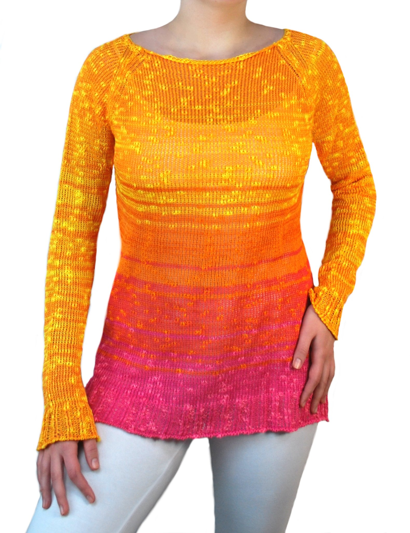 Ombre Linen Pullover Sunset
